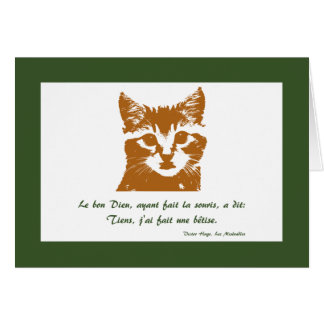 Greeting Card: Le Chat