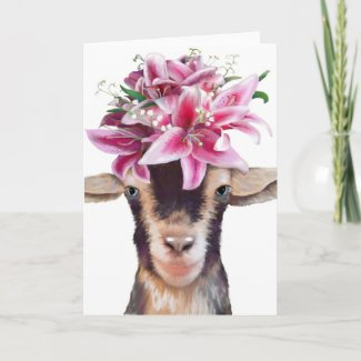 Greeting Card Lily the Goat