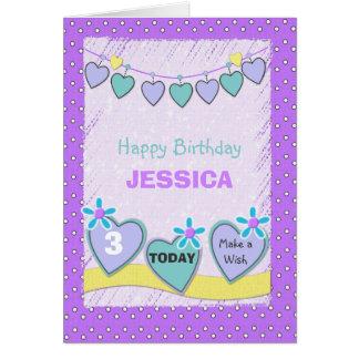 Greeting Card little girl birthday
