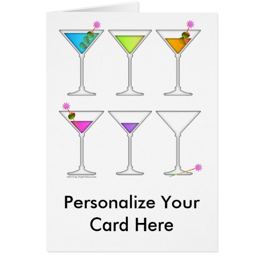 Greeting Card - Martinis Going, Going, GONE