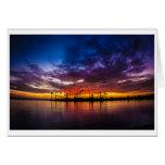 Greeting Card - Mission Bay Rainbow Sunset