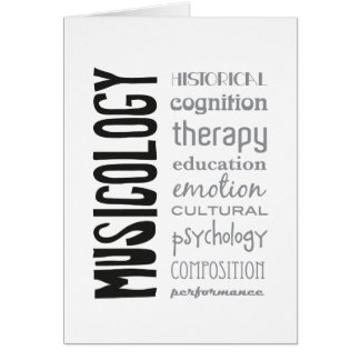 greeting card - MUSICOLOGY