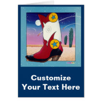 Greeting Card, Note Card - Cowboy Boot, All Dresse