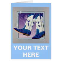Greeting Card, Note Card - Electric Slide Cowboy B