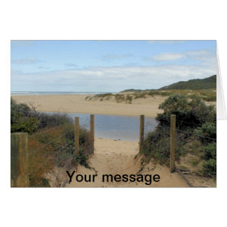 GREETING CARD Path to the River