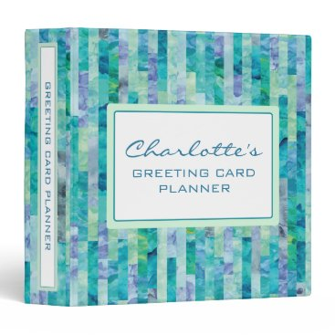 Professional Business Greeting Card Planner or Any Planner Patterned 3 Ring Binder