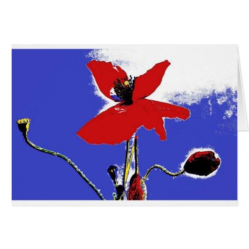 greeting card poppy popart tarjeta de felicitación