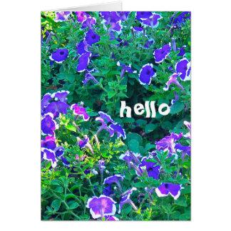 "greeting card, ""Purple and White Petunias"" Card"