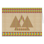 Greeting Card PYRAMID Triangle Energy Border