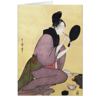 Greeting Card Reproduction  Vintage Japanese art