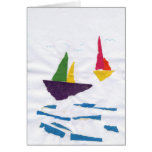 """GREETING CARD """"Sailboats on the Ocean"""" by K' Duong"""