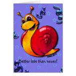 Greeting Card - Sammy Snail