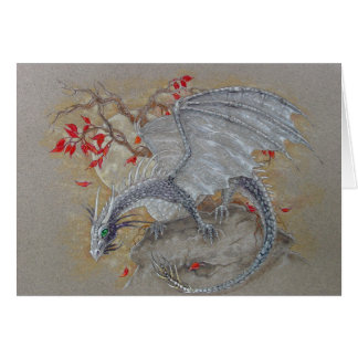 Greeting Card - Silver Dragon