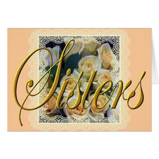 Greeting Card - Sisters - Creamy Yellow Bouquet