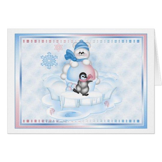 Greeting Card - Snocone Polar Pals