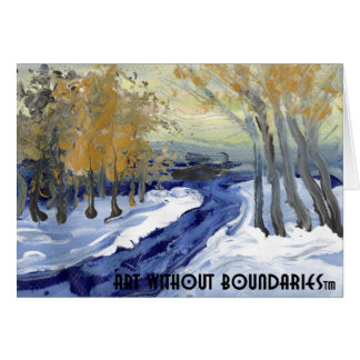 "Greeting card: ""Snowy Ohio Morning"" by Catherine Card"