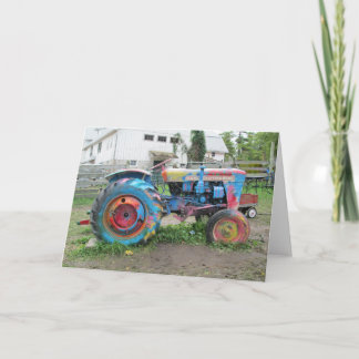 GREETING CARD: Splash of Colors Tractor Card