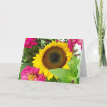 Greeting Card: Sunflower Bouquet Card