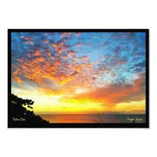 Greeting Card, Sunset, Makua Cabin, Makena, Maui Card
