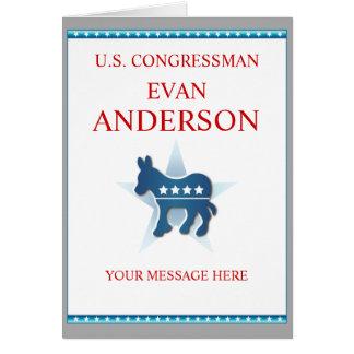 Greeting Card Template Democrat Donkey