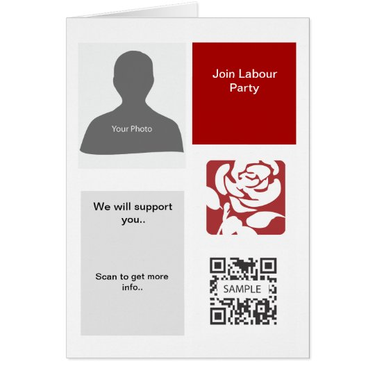 Greeting Card Template  Labour Party