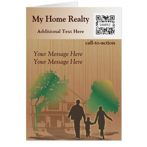 Greeting Card Template My Home Realty