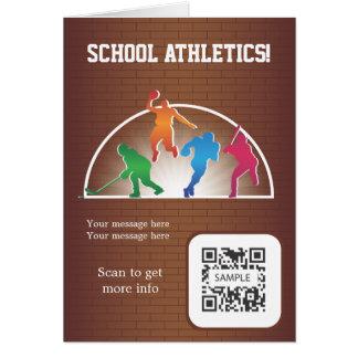 Greeting Card Template School Athletics