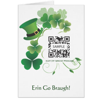 Greeting Card Template St. Patrick's Day