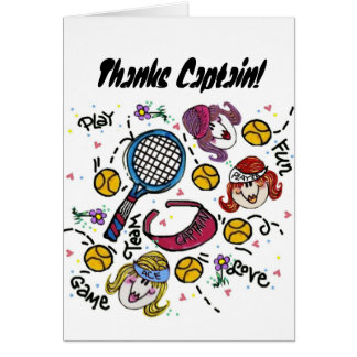 Greeting Card -Tennis Girls w envelope