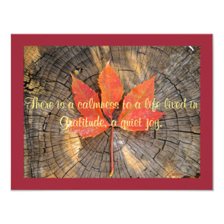 Greeting Card - Thanksgiving - Autumn Leaf