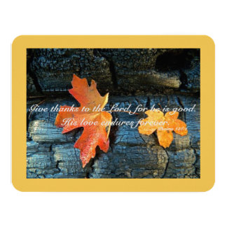 Greeting Card - Thanksgiving - Autumn Leaves