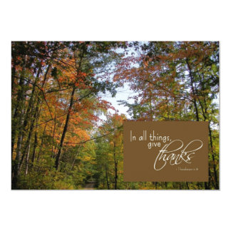 Greeting Card - Thanksgiving - In All Things Give