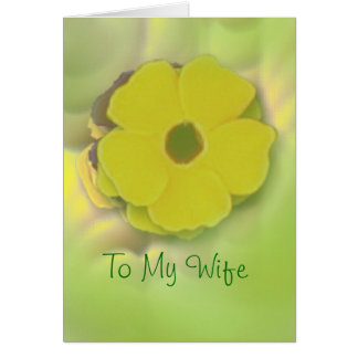 Greeting Card - To My Wife