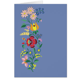 Greeting card Traditional flower Embroidery