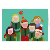 Greeting Card- Turquiose Carolers! Card