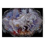 Greeting Card - Unicorn Autumn Run