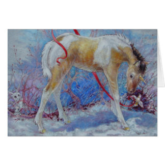 Greeting Card - Unicorn Painted Filly
