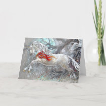 Greeting Card - Unicorn Snowy Owl