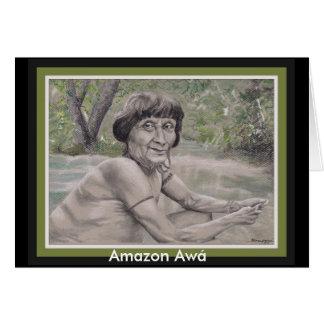 Greeting card w/ original art: Amazon Awá