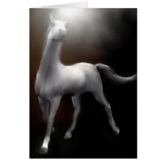 Greeting Card - White Horse Painting / Collectors