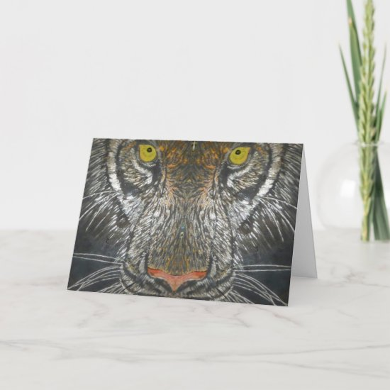 Greeting Card - Wild Cat Portrait