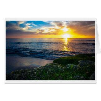 Greeting Card - Windansea Sunset Outlook