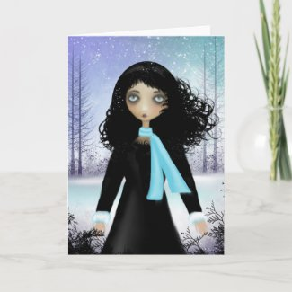 Greeting Card Winter Blank