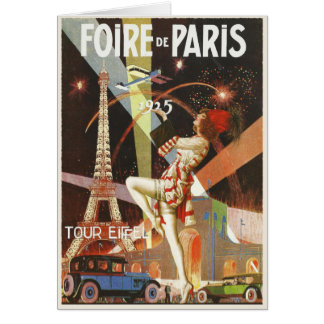 Greeting Card with 1920's Paris Art Deco Print