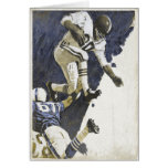 Greeting Card with Action Packed Football Print