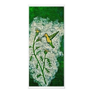 Greeting Card with Batik of Hummingbird