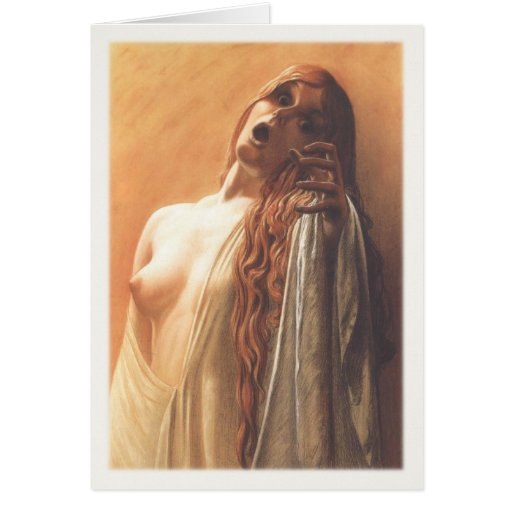 Greeting Card With Carlos Schwabe Painting