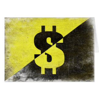 Greeting Card with Cool Anarcho-Capitalist Flag
