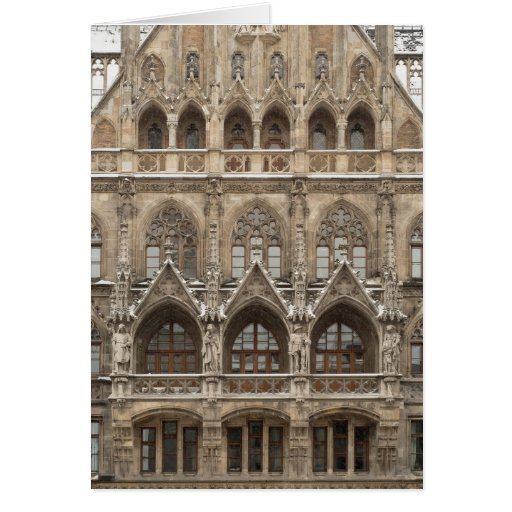 Greeting Card with Gothic Revival Architecture