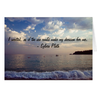 Greeting Card with Nature Quote